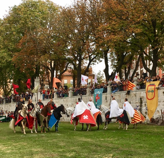 Caballeros preparados para los juegos medievales