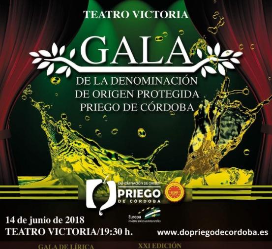 Cartel de la Gala DOP Priego de Córdoba