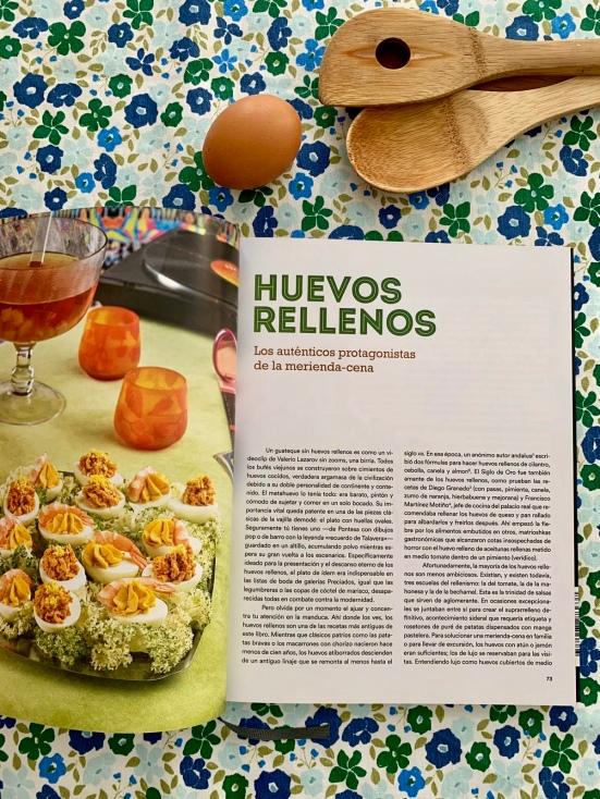 Receta de huevos rellenos del libro Cocina Viejuna